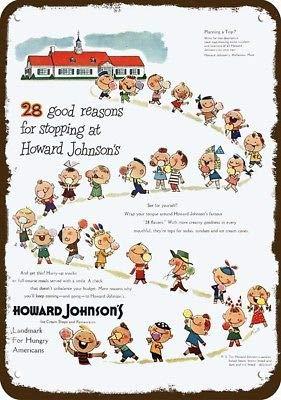 Laptopo 1950 Howard Johnson's Restaurant & Ice Cream Vintage Look Replica Metal Sign