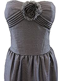 NEXT Pewter Silver Corsage Front Bandeau Evening Dress