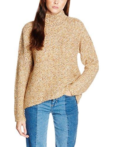 VILA CLOTHES VILOVABLE L/S KNIT TOP, Felpa Donna, Beige (Sandshell), 34 (Taglia Produttore: X-Small)