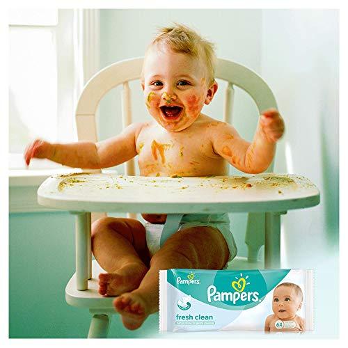 Pampers Fresh Clean Feuchttücher, 2-Monatspack, 768 Tücher (12 x 64 Stück) - 3