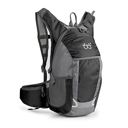 TXJ Wasserdichter Fahrradrucksack Herren Damen 30L Ultraleichte Wanderrucksäcke Outdoor Sportrucksack für Klettern Camping Reiten Reisen Laufsport, Schwarz(Trinkblase nicht enthalten)