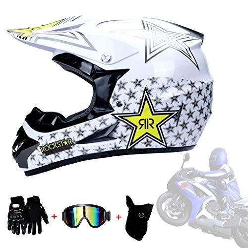 AMINSHAP Full Face Off Road Casco De Motocross Quad
