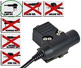 AIRSOFT PTT RADIO TASTE ZTACTICAL Z SORDINS U94 MOTOROLA 2 WEGE 2 PIN