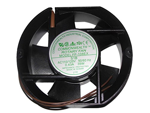 Commonwealth 172 * 51 fp-108ex-s1-b 110 V 50/60Hz 0,5 A 38 W 2 Draht AC Fan -