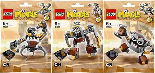 Lego, Mixels Series 5 Bundle Set of Klinkers, Gox (41536), Jinky (41537), and Kamzo (41538) by LEGO