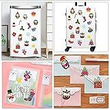 YS753 Limited Christmas Decor Series Mini Sticker Cute Penguin Home Decoration Creative Gift for Children Fridge Sticker Mural