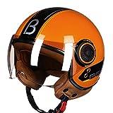 Vintage Motorrad Helme Jet Ruby Helm Schutz Gears 3/4 Halb Helm Roller ECE Dot Offenes Gesicht Capacete 8 XL