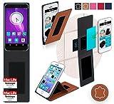 reboon Hülle für Elephone S1 Tasche Cover Case Bumper | Braun Leder | Testsieger