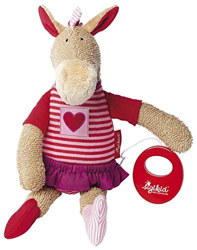 sigikid, Mädchen, Spieluhr, Stofftier Pony, Jip Jap Jump, Beige/Rosa, 41090