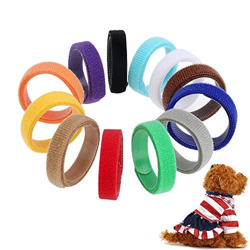 Super Junior 12 Stücke Welpenhalsbänder für Hunde Kätzchen, Wiederverwendbare Halsbänder für Welpen