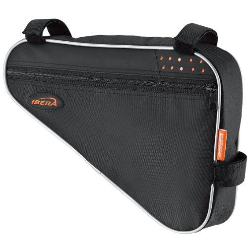 Ibera Fahrrad-Rahmentasche, Fahrradtasche Triangle Bag, Bicycle Triangle Frame Bag Medium schwarz/orange