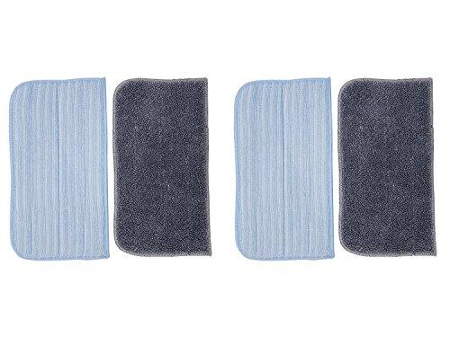 Green label 4confezione lavabili in microfibra per hoover ssn1700–panni per scopa a vapore (, simile a ac21, 35601330)