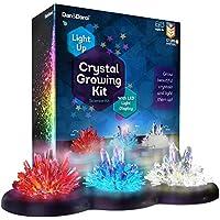 Dan&Darci Kit de Cultivo de Cristales Iluminado - ¡Cultive Sus Propios Cristales y Haga Que brillen! Gran Regalo de experimentos científicos para Niños y Niñas   Juguete Stem   Cultivo de Cristal