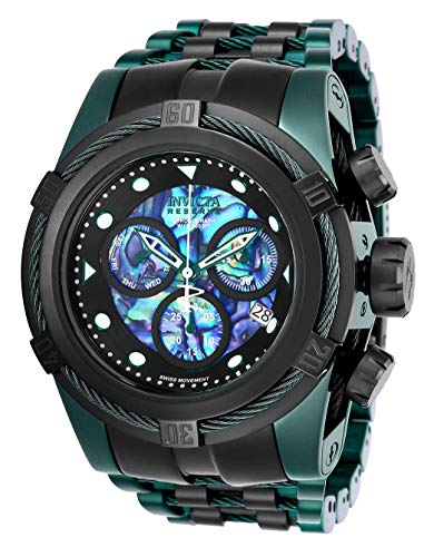 Invicta Men's Reserve Green Steel Bracelet & Case Swiss Quartz Watch 25920