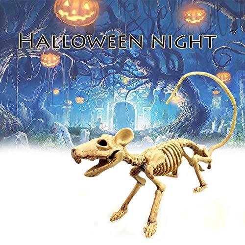 Ratte Kind Kostüm - Renendi Halloween Requisiten gruselige Maus Skelett Ratte Kunststoff Mäuse Knochen Arty Bar Home Dekoration multi