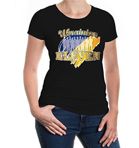 buXsbaum® Girlie T-Shirt Ukrainian Eleven Black-z-direct