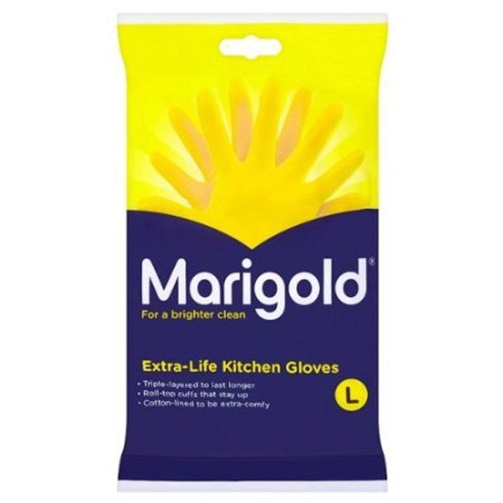 Marigolds Extra Life Kitchen Glove Large 1 x 6 pairs: Amazon.co.uk ...