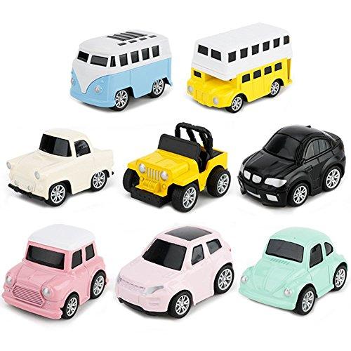 YIMORE Mini Legierung Modelle Autos Pull Back Autos Spiele Fahrzeuge Druckgussautors Spielzeug für Kinder, 8 Stück