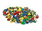 Pulsadores de metal de colores brillantes / punzones duraderos sostenibles Pushpins / 300 PCS