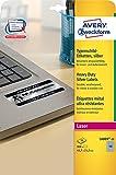 Avery Zweckform L6009-20 Typenschild-Etiketten (A4, 960 Stück, 45,7 x 21,2 mm, wetterfest) 20 Blatt silber