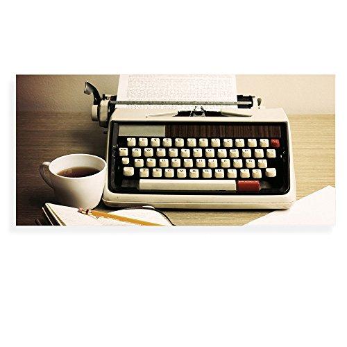 banjado - Scheibe zum Wechseln 56x26cm für Ikea Gyllen Leuchte Wandlampe Schreibmaschine, Motivscheibe Wechselscheibe