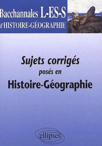 Histoire - Géographie Terminales