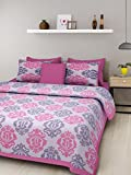#9: Jaipuri Style 100% Cotton Bedsheet Double Rajasthani Tradition King Size Double Bedsheet with 2 Pillow Cover.