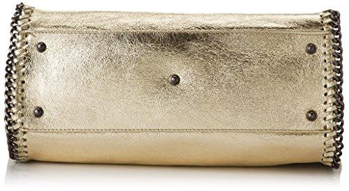 Chicca Borse 8667, Borsa a Spalla Donna, 38x28x15 cm (W x H x L) Oro