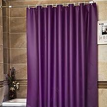 LikeYou Cortina de ducha PEVA Eco-friendly Material No tóxico No Irritante Huele Impermeable Resistente al calor Resistente a la corrosión y al moho (240x200cm, Púrpura)
