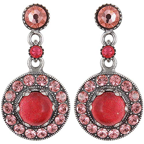 SIMPLY BEAUTIFUL Ohrring   KONPLOTT - Exklusiver Designer-Modeschmuck mit Swarovski Elements   Ohrhänger mit Glitzer-Steinen für Damen in Weiß, Rosa, Rot, Blau, Grün