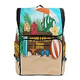 Emoya Schulrucksack für Mädchen, Tropische Sommerpflanzen, Sonnenschutz, Büchertasche, Freizeit-Rucksack für Teenager und Jungen