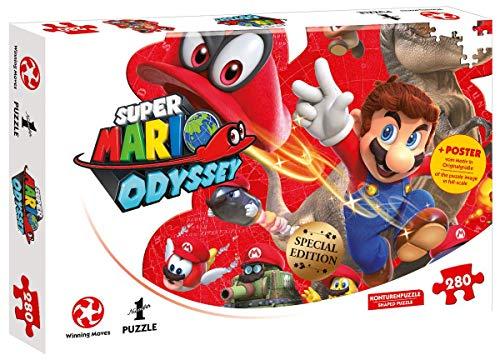 Nintendo Original Super Mario Odyssey - Mario und Cappy - Konturenpuzzle mit ()