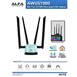 Alfa Network AWUS1900 802.11ac Ultra speed USB adapter