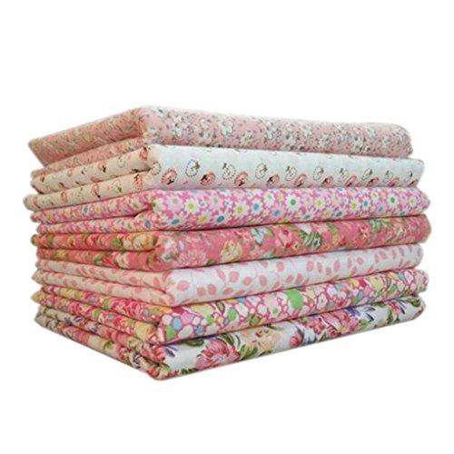 Zerama 7pcs / Set la Tela de algodón para la Serie Rosa de Costura Que acolcha Remiendo Textiles para el hogar Tilda muñeca de Trapo Cuerpo