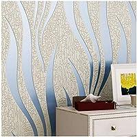 YJZ Europäischen Stil 3D Welle Textur Tapete Vlies Moderne Umweltschutz Home Decor Tapete Für Wohnzimmer, Schlafzimmer Und TV Hintergrund,Blue,1PCS