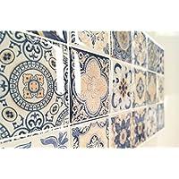 Pack de 8 Azulejo adhesivos con relieve. Medida exclusiva en Amazon. Tambien se puede utilizar como cenefas para cocina