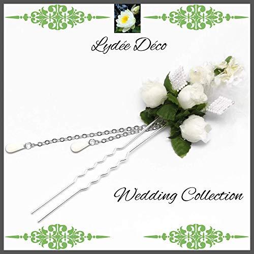 Friseurzubehör Hochzeit Friseur Haarnadeln Webperlen Japan weiße Perlen Blumen Federn personalisierte Geschenke Zeremonie Gäste Brautjungfer der Ehre Zeugenpaar