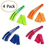 Qwhome Jalousie Reiniger Staubtuch Pinsel 4Er Pack Mikrofaser Sleeves - Blind Cleaner Werkzeuge Für Jalousien Klimaanlage Jalousie Staub