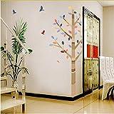 Newberli Wald Bunte Baum Vögel Pvc Wandaufkleber Nach Hause Wohnzimmer Schlafzimmer Dekor Tv Hintergrund Sofa Wandtattoos Kind Wandtattoos