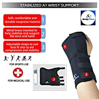 Wrist Support brace splint for carpal tunnel, arthritis or sports sprain NHS use TM