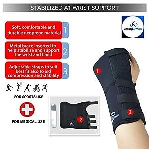Wrist Support brace splint for carpal tunnel, arthritis or sports sprain NHS use TM