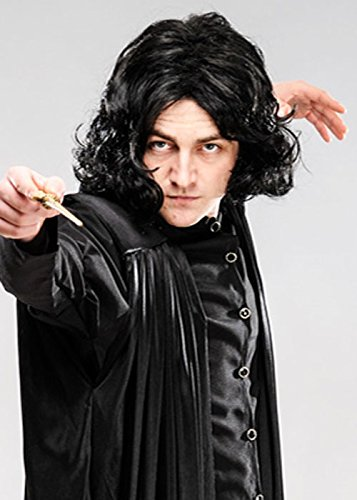 Magic Box Adulto para Hombre Professor Snape Style Black Wig