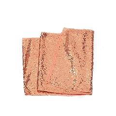 Idea Regalo - Meijuner Premium paillettes Runner Beautiful Sparkle tessuto per la festa Festa di Natale della decorazione della casa festa di nozze decorazioni 4 colori 30cm*275cm (Oro rosa)