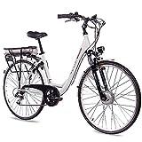 CHRISSON '28'City Pedelec E-Bike Vélo en aluminium E de Lady avec 7g Shimano Blanc 50cm de 71,1cm (28pouces)