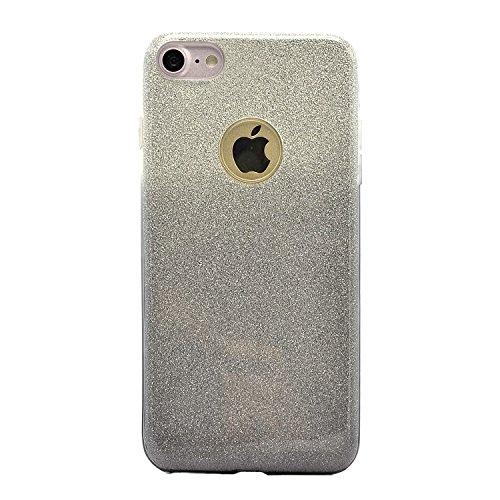 Sunroyal iPhone 7 Bling Diamant Kristall Crystal Hülle Transparent Durchsichtig Bumper Rahmen TPU Weich Bling Case / Hülle / Tasche Etui Schutzhülle für iPhone 7 (4.7 Zoll) Strass Handytasche Sparklin Pattern 08