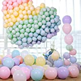 XUNKE Ballon Pastel 105PCS Macaron Couleur Pastel Ballon en Latex pour Decoration...