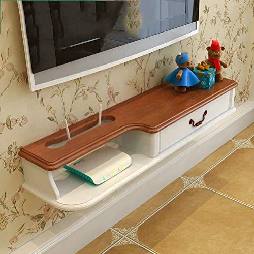 LRZS Pastorale Massivholz Wand Set-Top Box Rack Wohnzimmer Wand Einfache Mini Kleine Wohnung Schlafzimmer TV Schrank Europäischen Stil (größe : 100cm) (Eiche Display-box)