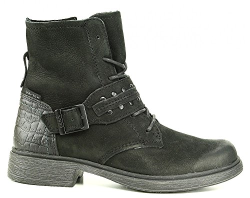Vado ela schnürstiefelette antique tex sangle avec rivets noir Noir - Noir
