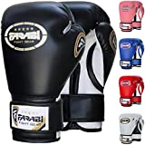 FARABI 8oz Junior Boxing Gloves Kids Boxing Gloves 8-oz Boxing Gloves Sparring, Training Bag Mitt Gloves for Punching, Sparring, Workout, Training (8-OZ, Black)