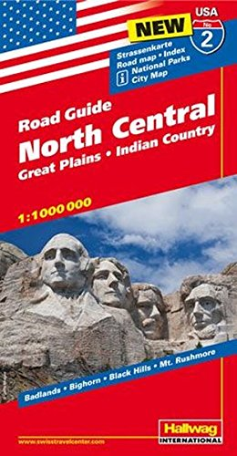 Hallwag USA Road Guide 02 North Central 1 : 1.000.000: Great Plains, Indian Country (Hallwag Strassenkarten, Band 2)